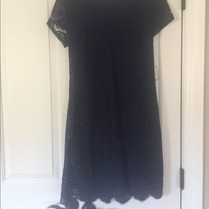 Laundry by Shelli Segal navy lace dress